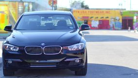 BMW 4k video. BMW parked on the streets of Miami stock video footage