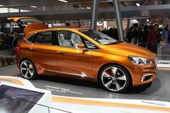 BMW-Konzept aktiver Tourer im Freien Stockbild