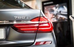 BMW 750 Li bij BMW-museum Stock Foto's