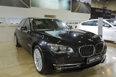 Bmw 740li car Royalty Free Stock Image