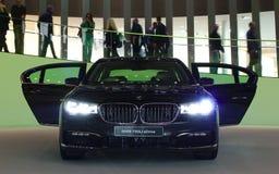 BMW 750Li på IAA-bilarna Arkivfoto