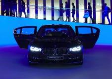 BMW 750Li på IAA-bilarna Arkivfoton