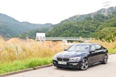 BMW 740Li testa przejażdżka zdjęcie stock