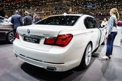 BMW 750Li xDrive Berline Individual, Motor Show Geneva 2015. Stock Image