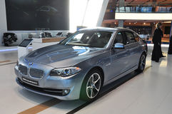 BMW limousine för 5 serie Arkivfoton