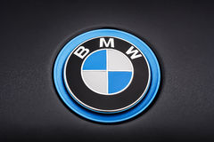 BMW logo detail Stock Photo