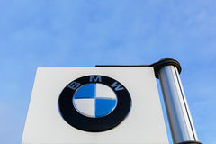 BMW logo on a panel Stock Image
