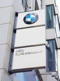 BMW logo w Berlin Fotografia Royalty Free