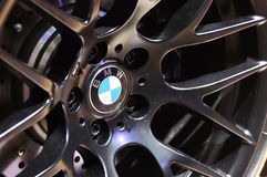 Bmw logo on the wheel Stock Images