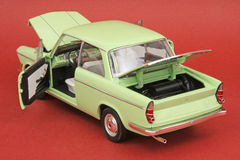 BMW LS Luxus 1962. 1962 BMW LS Luxus, Signature Models 1:18 scale diecast, right rear view Royalty Free Stock Image