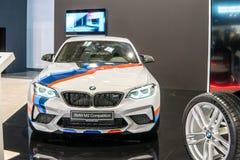 BMW M2小轿车竞争,第一代,F22,BMW制造和销售的后轮驱动的小轿车 免版税库存照片