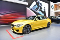 BMW M4小轿车 库存图片
