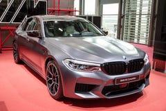 BMW M5竞争汽车 库存图片