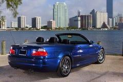 BMW M3跑车在Key Biscayne迈阿密FL 免版税库存照片