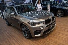 BMW X5 M. Belgrade, Serbia - March 19, 2015: BMW X5 M presented at Belgrade 52nd International Motor Show - MSA (OICA), press day stock image