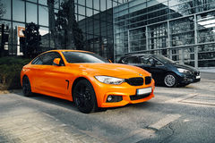 BMW M4 & BMW 2 Active Tourer Royalty Free Stock Images