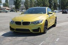 BMW M4 car on display Royalty Free Stock Photo