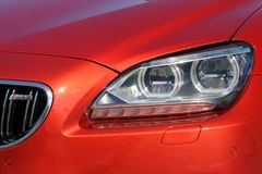 September 26, 2016, Kyiv. BMW M6. Car headlights. Luxury Headlights royalty free stock image