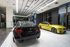 BMW M5 car for sale. BMW M5 car in showroom for sale. 2014.06 royalty free stock images