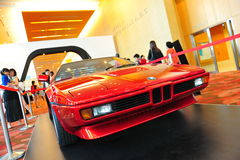 BMW M1 classic sports car on display at BMW World 2014 Stock Photos