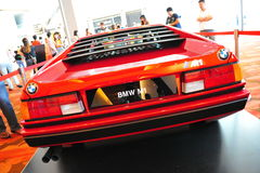 BMW M1 classic sports car on display at BMW World 2014 Royalty Free Stock Image