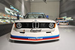 BMW M competition cars on display in the Touring Car Hall of BMW Museum Royalty Free Stock Photography