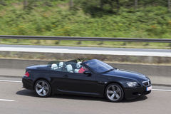 BMW M6 Convertible on the road Royalty Free Stock Photo