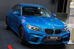 BMW M2 Coupe. Belgrade, Serbia - March 23, 2017: New BMW M2 Coupe presented at Belgrade 53th International Motor Show - MSA OICA Stock Photo