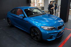 BMW M2 Coupe. Belgrade, Serbia - March 23, 2017: New BMW M2 Coupe presented at Belgrade 53th International Motor Show - MSA OICA Royalty Free Stock Photo