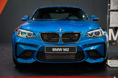 BMW M2 Coupe. Belgrade, Serbia - March 23, 2017: New BMW M2 Coupe presented at Belgrade 53th International Motor Show - MSA OICA Royalty Free Stock Images