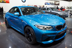 BMW M2 Coupe car. BRUSSELS - JAN 12, 2016: BMW M2 Coupe car on display at the Brussels Motor Show Stock Images