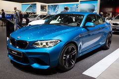 BMW M2 Coupe car. GENEVA, SWITZERLAND - MARCH 1, 2016: BMW M2 Coupe at the 86th International Geneva Motor Show in Palexpo, Geneva Stock Photography