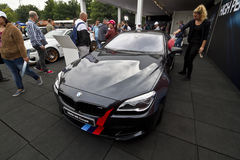 BMW M6 Coupe. Hungary, Mogyorod - September 25, 2016: BMW M6 Coupe car at the pavilion of BMW at the DTM car race in Hungaroring in Mogyorod Stock Images