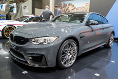 BMW M4 Coupe TELESTO car. BRUSSELS - JAN 19, 2017: BMW M4 Coupe TELESTO car at the Motor Show Brussels Royalty Free Stock Photos