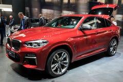 BMW X4 M40d SUV bil 2018 Arkivfoton