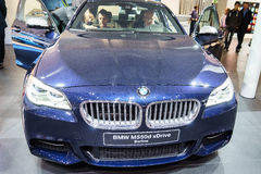 BMW M550d xDrive Berline, Motor Show Geneva 2015. Stock Photos