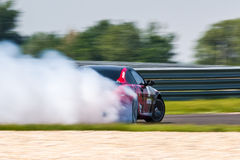 BMW M6 drift car royalty free stock image