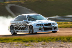 BMW M3 drift car. Drift car photographed during Powerfest event at Slovakia Ring on May 1, 2014 royalty free stock images