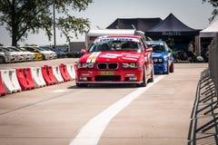 BMW M3 e46赛车 免版税库存图片