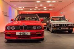 BMW M3 E30 e M5 E28 Fotografie Stock Libere da Diritti