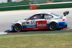 BMW M3 E46 RACE CAR. MISANO ADRIATICO, Rimini, ITALY - May 10:  A BMW M3 E46 driven by FERRARESI Matteo (ITA)  and MELONI Walter (ITA),W&D Racing Team during the Royalty Free Stock Photography