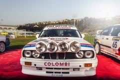 San Marino 21 October 2017 -BMW M3 E30 at rally the legend. BMW M3 E30 at rally the legend of san marino. the historic rally came to the fifteenth edition Royalty Free Stock Photography