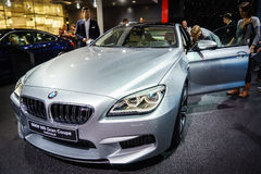 BMW M6 Gran小轿车,汽车展示会吉恩威2015年 免版税库存照片