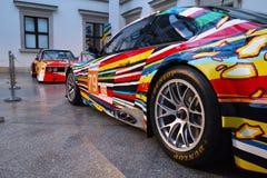 BMW M3 GT2 Art Car av Jeff Koons Royaltyfria Bilder