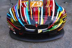 BMW M3 GT2 Art Car av Jeff Koons Arkivfoto