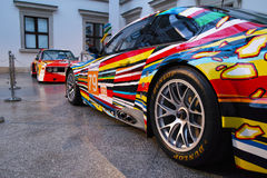 BMW M3 GT2 Art Car by Jeff Koons Royalty Free Stock Images