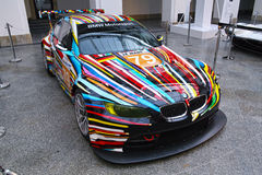 BMW M3 GT2 Art Car by Jeff Koons Royalty Free Stock Photos