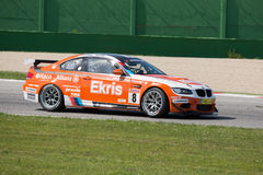 BMW M3 GT4 AM RACE CAR. MISANO ADRIATICO, Rimini, ITALY - May 10:  A BMW M3 GT4 PRO of RT Holland Ekris MS tam, driven By KNAP Simon (NED) and VAN ORANJE Pieter Stock Images