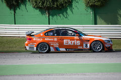 BMW M3 GT4 AM RACE CAR. MISANO ADRIATICO, Rimini, ITALY - May 10:  A BMW M3 GT4 PRO of RT Holland Ekris MS tam, driven By KNAP Simon (NED) and VAN ORANJE Pieter Royalty Free Stock Photography