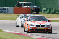 BMW M3 GT4 AM RACE CAR. MISANO ADRIATICO, Rimini, ITALY - May 10:  A BMW M3 GT4 PRO of RT Holland Ekris MS tam, driven By KNAP Simon (NED) and VAN ORANJE Pieter Royalty Free Stock Photo